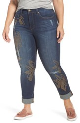 Melissa Mccarthy Seven7 Plus Size Women's Studded Roll Cuff Skinny Jeans Darcy