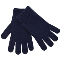 John Lewis Made In Italy Cashmere Gloves One Size Navy