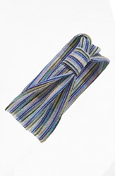 Tasha Stripe Knot Head Wrap Blue Multi