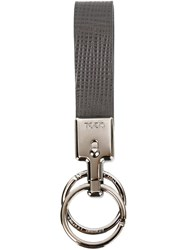 Tod's 'Vallet Parking Classic' Keyring Grey