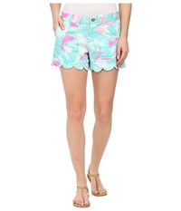 Lilly Pulitzer Buttercup Shorts Tropical Pink Sands Women's Shorts Blue