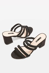 Topshop Nicky Tubular Mules Black