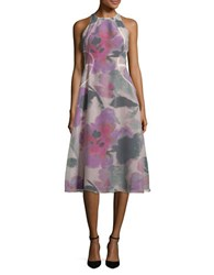 Rachel Roy Floral Print A Line Dress Hot Pink