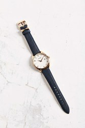 Nixon Bullet Rose Gold Navy Leather Watch