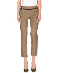 Pianurastudio Trousers Casual Trousers Women Khaki