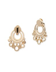 Anne Klein Circular Disc Drop Earrings Coral