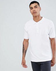Pull And Bear Pullandbear Join Life Polo In White With Sunset Embroidery