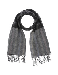 Grey Daniele Alessandrini Oblong Scarves Steel Grey