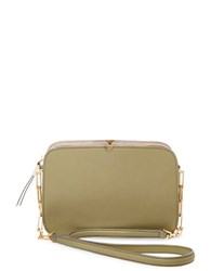 Brian Atwood Zoey Leather Crossbody Moss