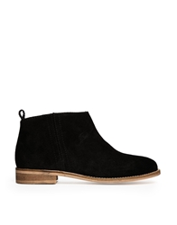 Ravel Suede Side Zip Ankle Boots Black