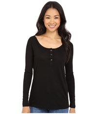Culture Phit Makaila Long Sleeve Top With Buttons Black Women's Clothing