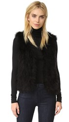 Club Monaco Violet Feather Vest Black