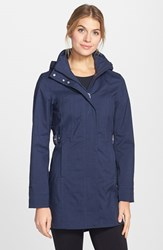 The North Face Women's 'Laney' Trench Raincoat Cosmic Blue Melange