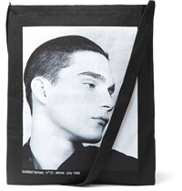 Raf Simons Isolated Heroes Printed Cotton Tote Bag Black