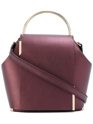 Onesixone Mini Tote Women Leather One Size Pink Purple