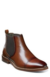 Stacy Adams Men's Alomar Chelsea Boot Cognac Leather