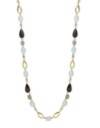 Anne Klein Mother Of Pearl And Cubic Zarconia Necklace