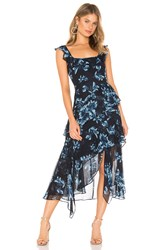 Bcbgmaxazria Midi Cocktail Dress Navy