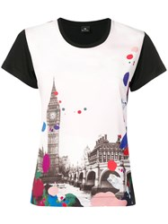 Paul Smith Ps By Graphic Print T Shirt Black