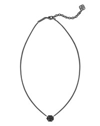 Mabel Druzy Pendant Necklace Kendra Scott Black Drusy