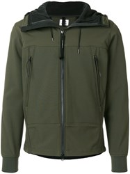 C.P. Company Cp Zip Pocket Hooded Jacket Cotton Polyamide Polyester Spandex Elastane Green