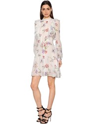 Giambattista Valli Floral Chantilly Lace And Georgette Dress