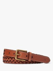 Ralph Lauren Polo Braided Leather Belt Brown