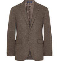 Polo Ralph Lauren Brown Herringbone Wool Blazer Brown