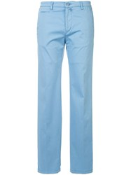 Kiton Slim Fit Chinos Blue