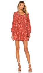 Cleobella Ella Mini Dress In Red. Grenadine