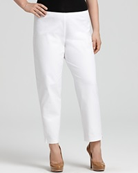 Eileen Fisher Plus Size Slim Ankle Pants White