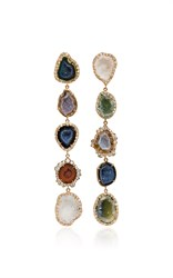 Kimberly Mcdonald Five Petite Geode And Irregular Diamond Earrings Multi