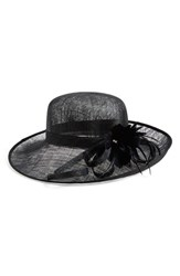 Women's Nordstrom Sinamay Hat With Flower Black
