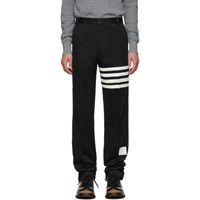 Thom Browne Black Unstructured Chino 4 Bar Trousers