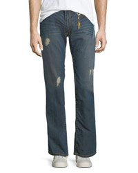 Robin's Jeans Distressed Straight Leg Medium Blue