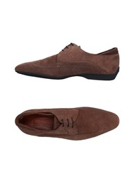 A.Testoni Lace Up Shoes Brown