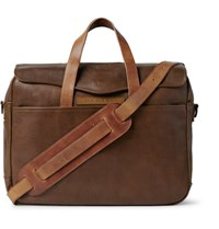 Rrl A 2 Leather Briefcase Brown