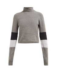 Lndr Piste Roll Neck Wool Sweater Grey Multi