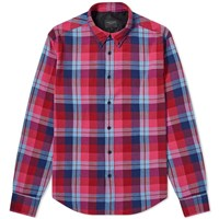 Rag And Bone Fit 2 Tomlin Check Shirt Red