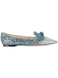 Jimmy Choo Gabie Slippers Leather Polyester Blue