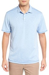 Tommy Bahama Men's New Double Tempo Spectator Jersey Polo Sky Blue