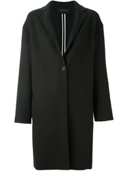Cedric Charlier Single Breasted Coat Green