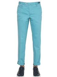 Pt01 17Cm Reef Faded Stretch Cotton Pants Aqua