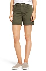 Nydj Petite Women's 'Avery' Colored Denim Roll Cuff Shorts Topiary