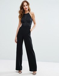 Lipsy High Neck Cornelli Wide Leg Jumpsuit Black