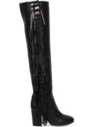 Laurence Dacade 95Mm Sybille Fringed Nappa Leather Boots Black