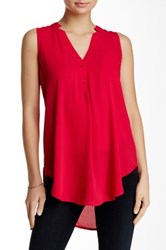Lush V Neck Tank Juniors Red