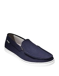 Cole Haan Canvas Slip On Loafers Blue