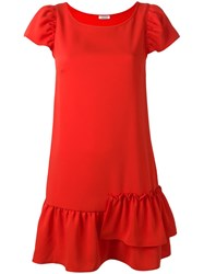 P.A.R.O.S.H. Cap Sleeve Dress Red