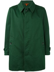 Barena Single Breasted Pea Coat Men Cotton 50 Green